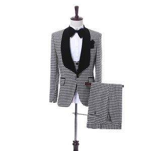 Other - Men's Gray Black Lapel Tuxedo + Vest + Pants